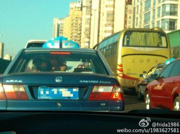上海出租车内车震