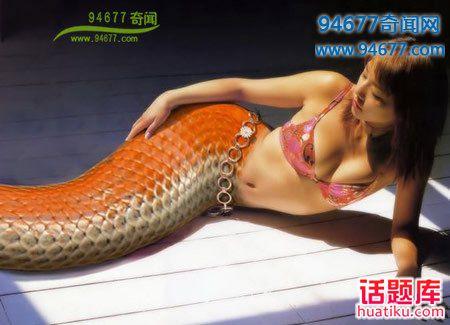 """策策""""美人蛇,惊艳的美人蛇图片集锦:人头蛇身的美女蛇(多图)""""奇闻轶事"""